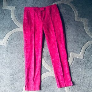 NWOT Skinny Pink Trousers, Ankle Length